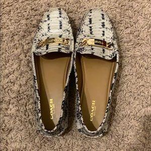 Like new coach snake print loafers